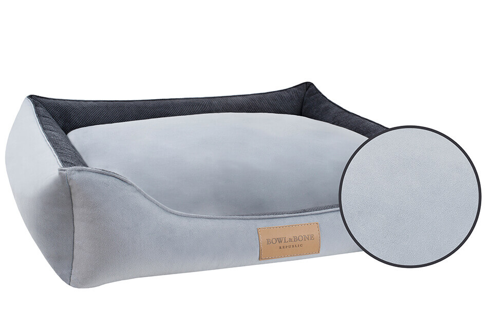 dog bed classic grey bowl and bone republic magnifier