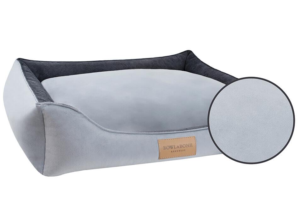 dog bed classic grey bowlandbonerepublic magnifier