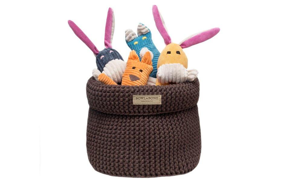 basket for dog toys cotton brown toy rex roy felix bax bowl and bone republic ps1sa