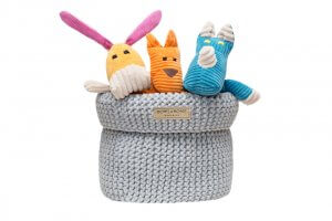 basket for dog toys cotton grey toy bax felix roy bowl and bone republic ps1sa