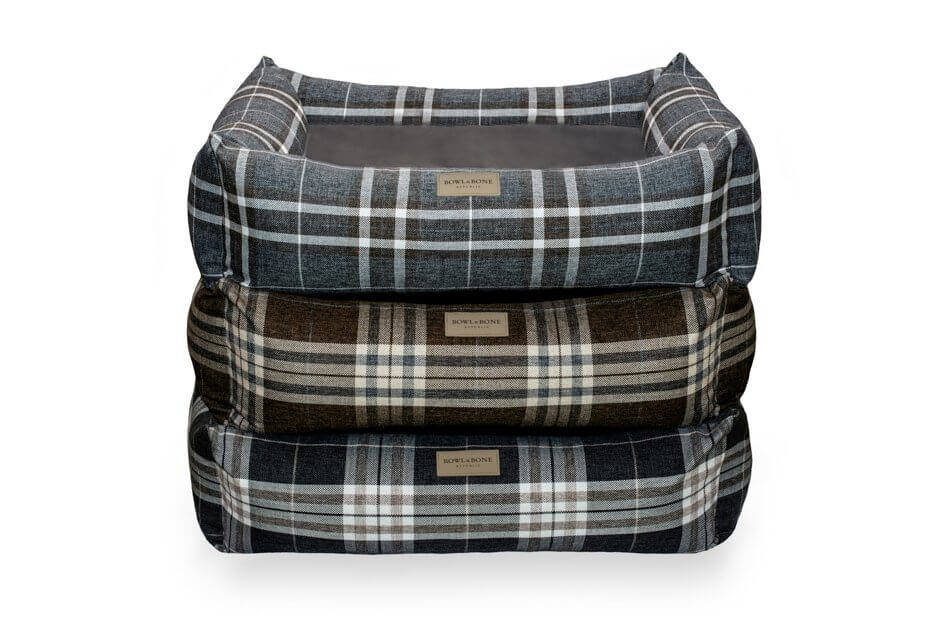 dog bed scott grey brown blue bowl and bone republic ps1sa