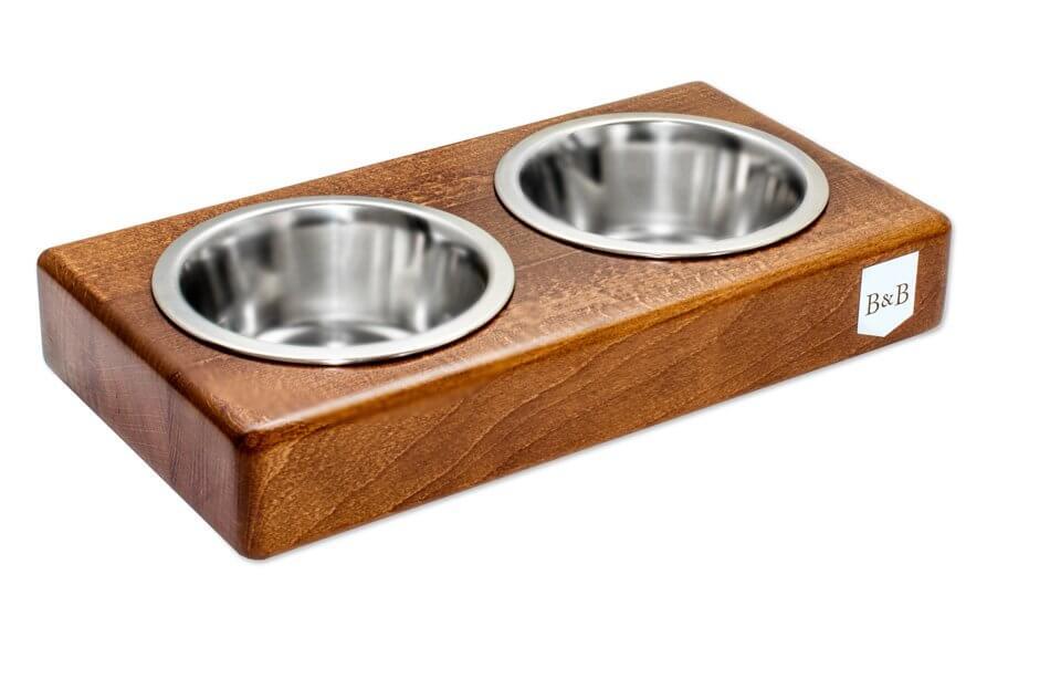 dog bowl duo amber light brown wooden bowlandbonerepublic ps1sa