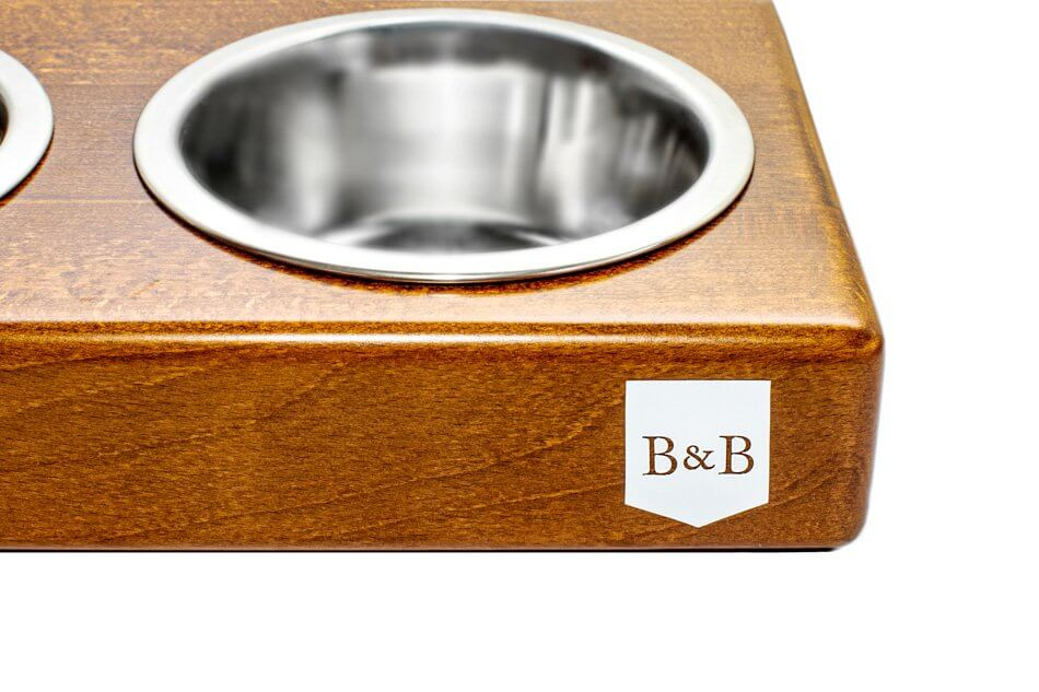 dog bowl duo amber light brown wooden bowl and bone republic ps2sa