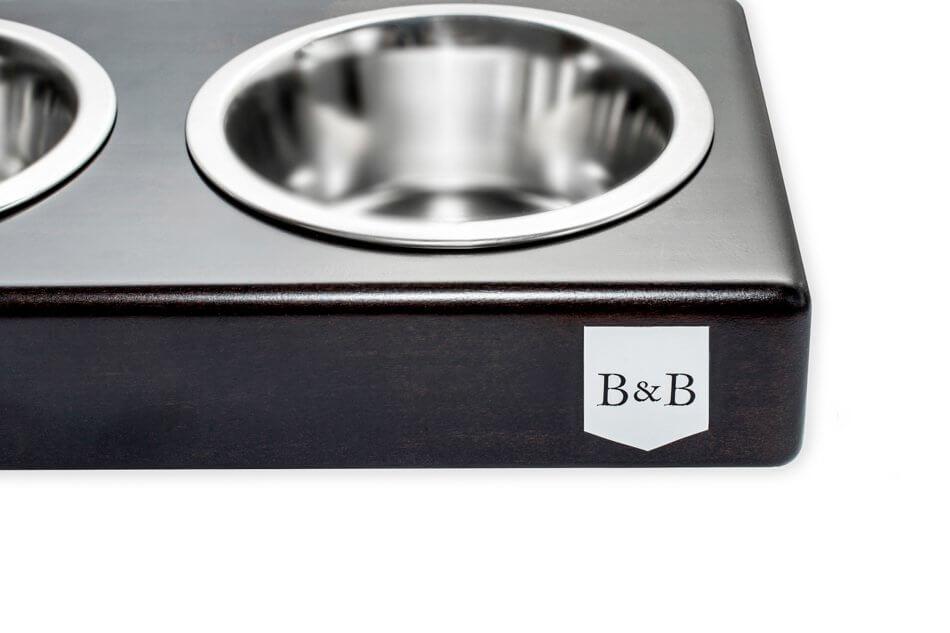dog bowl duo chestnut dark brown wooden bowlandbonerepublic ps2sa