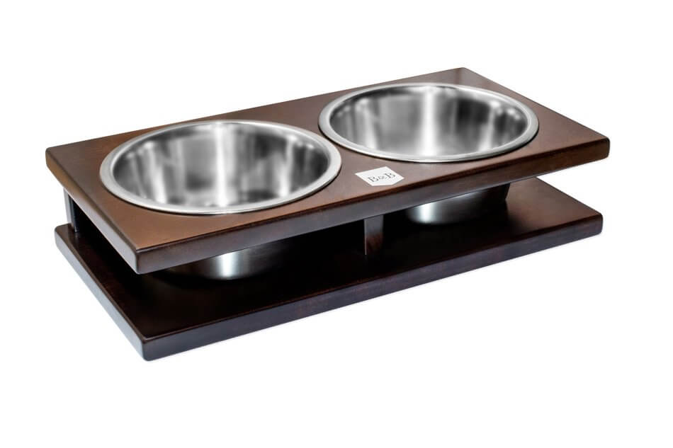 dog bowl grande chestnut dark brown wooden bowl and bone republic ps1sa
