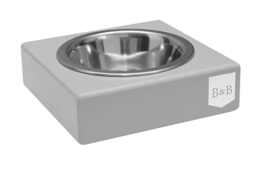 dog bowl solo grey wooden bowlandbonerepublic ps1sa