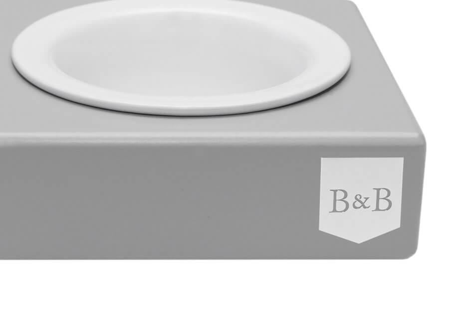 dog bowl solo ceramic grey wooden bowl and bone republic ps2sa