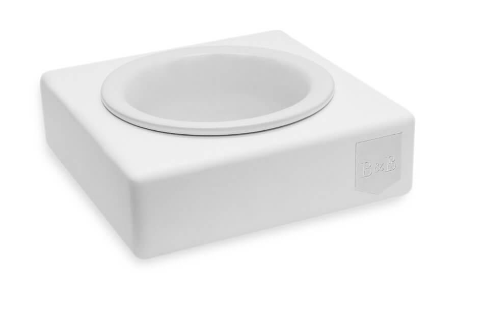 dog bowl solo ceramic jasmine white wooden bowlandbonerepublic ps1sa