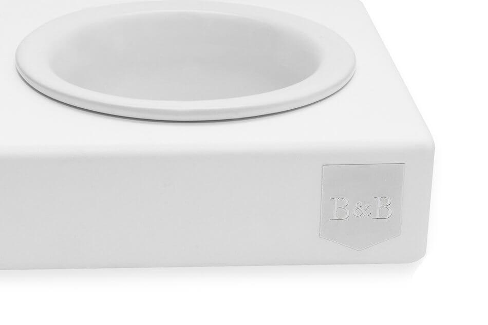 dog bowl solo ceramic jasmine white wooden bowlandbonerepublic ps2sa