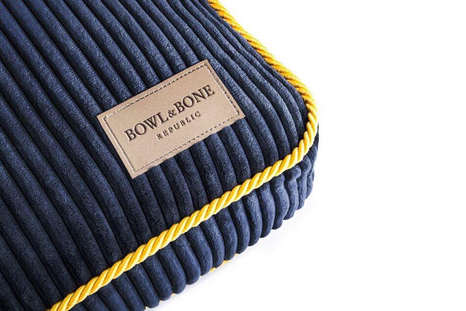 dog cushion bed deco sapphire blue bowl and bone republic ps2sa
