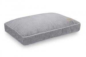 dog cushion bed deco silver grey bowl and bone republic ps1sa
