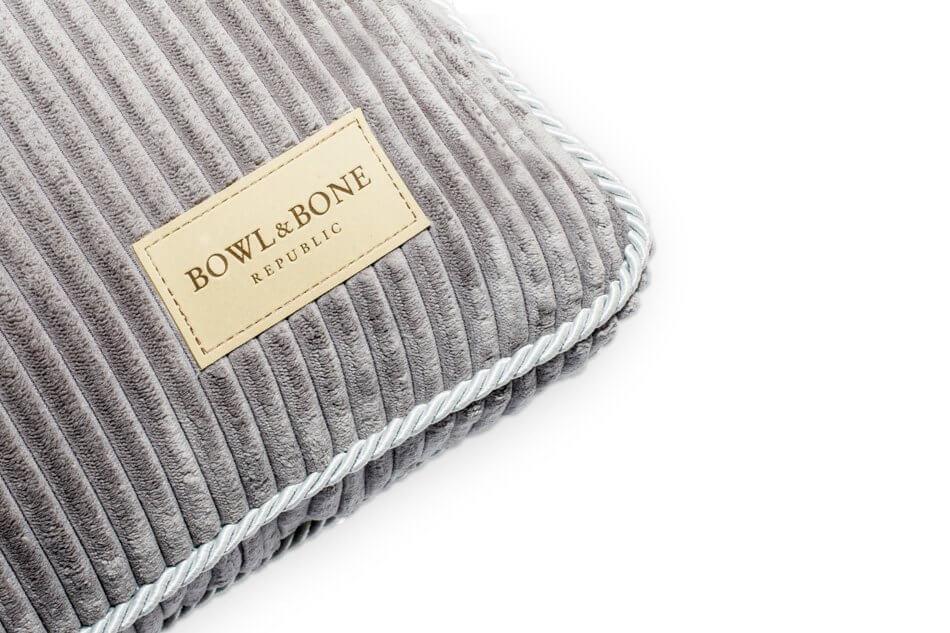 dog cushion bed deco silver grey bowlandbonerepublic ps2sa
