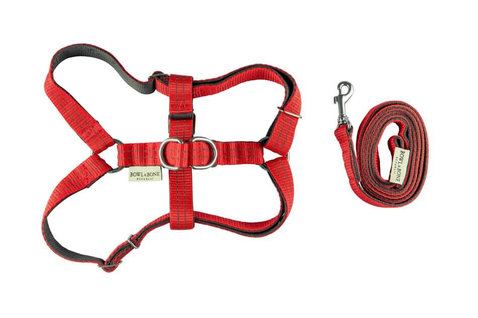 dog harness lead active red bowl and bone republic ps1sa