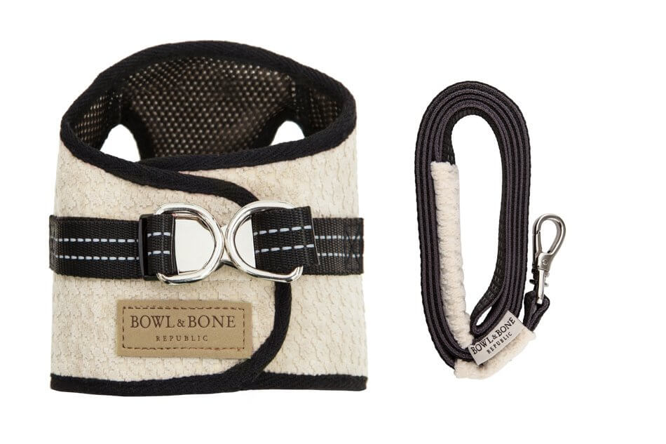 dog harness lead soho cream bowl and bone republic ps1sa