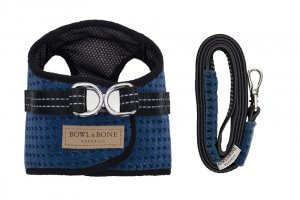 dog harness lead soho navy bowl and bone republic ps1sa
