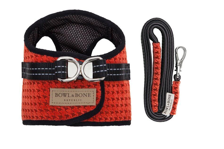 dog harness lead soho orange bowl and bone republic ps1sa