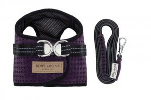 dog harness lead soho purple bowl and bone republic ps1sa