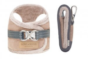 dog harness lead yeti brown bowl and bone republic ps1sa