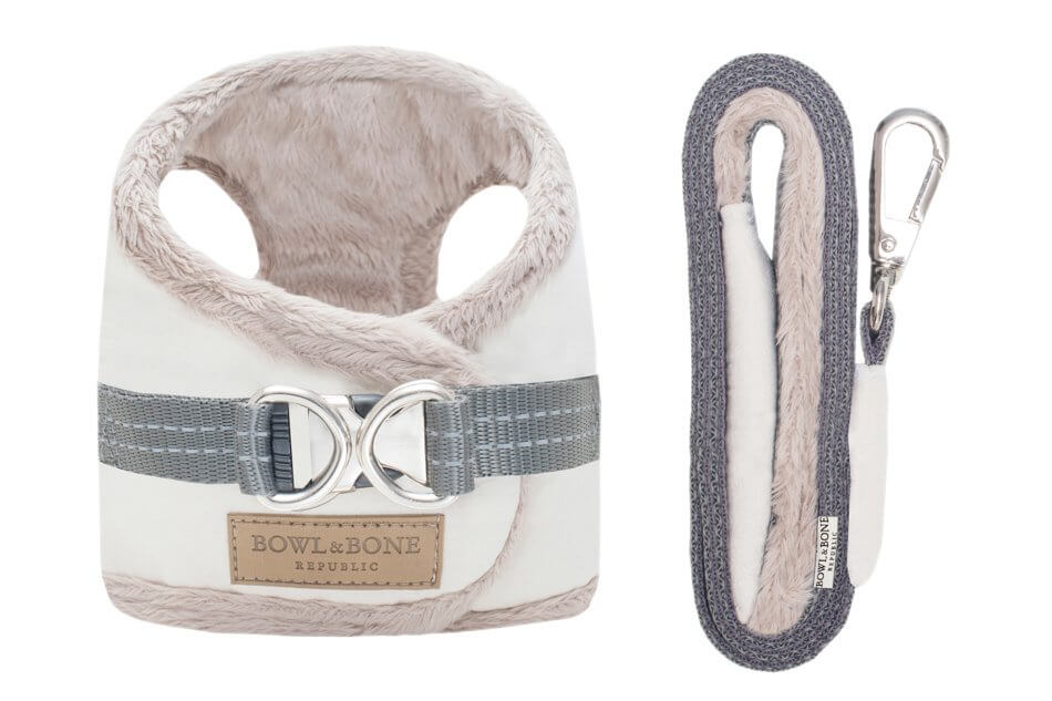 dog harness lead yeti cream bowl and bone republic ps1sa