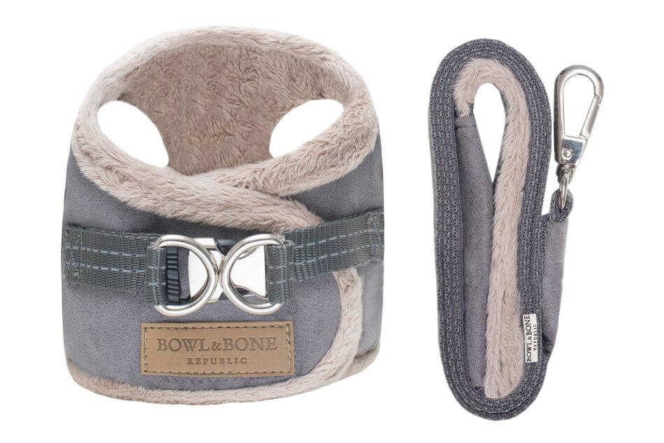 dog harness lead yeti grey bowl and bone republic ps1sa
