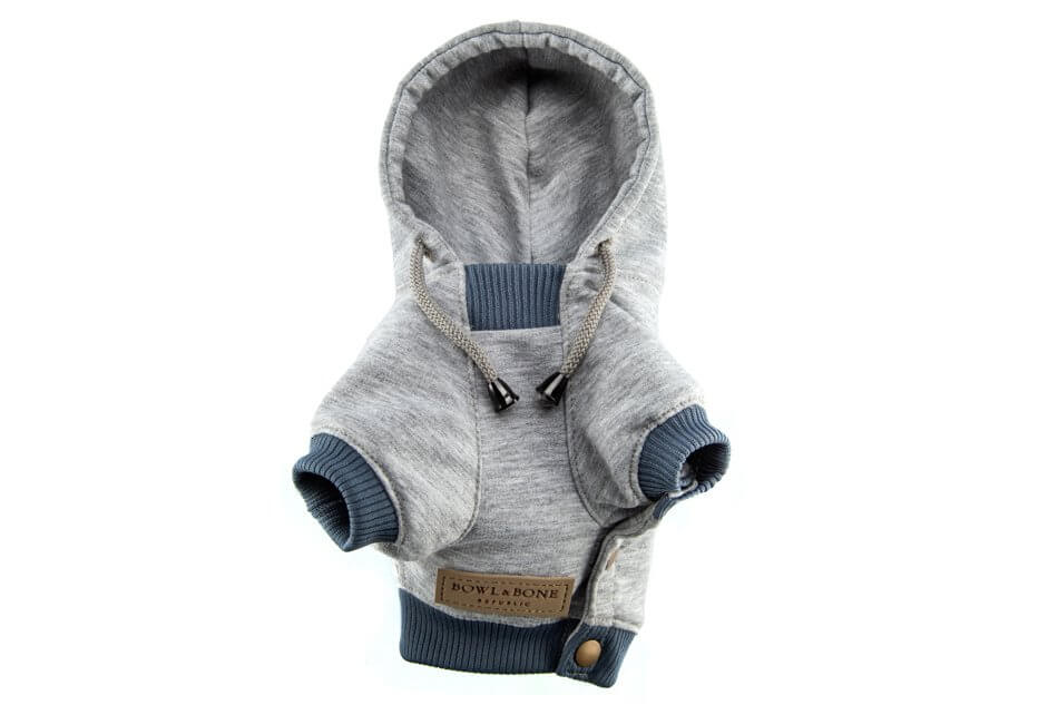 dog hoodie yolo grey bowl and bone republic ps2sa