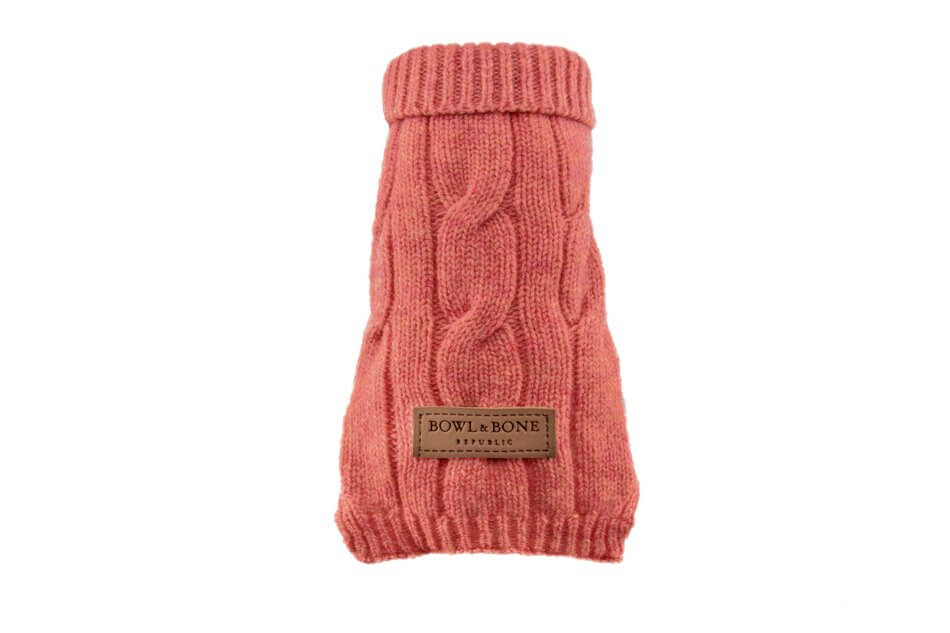 dog sweater aspen pink bowl and bone republic ps1sa