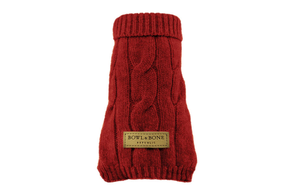 Dog Sweater Aspen Red