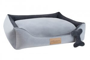 dog bed classic grey bowl and bone republic ps1sa