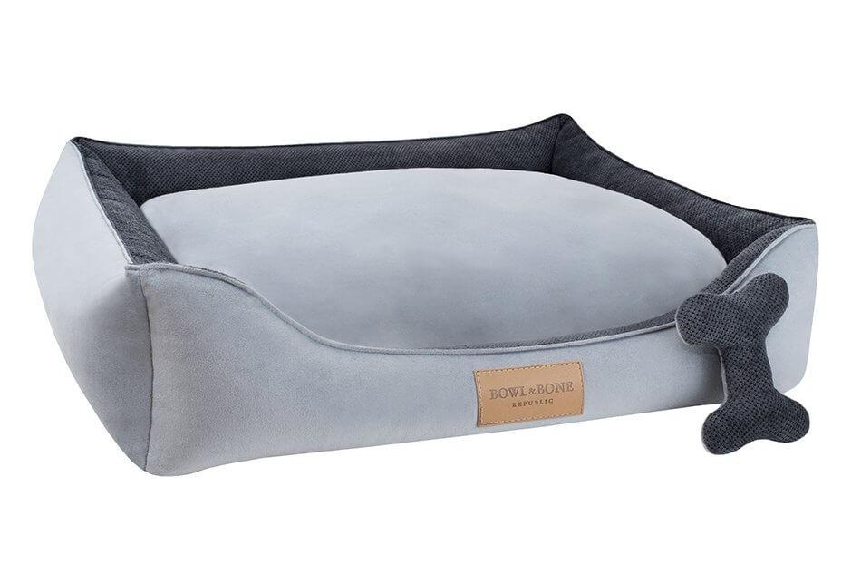 dog bed classic grey bowl and bone republic ps1sa