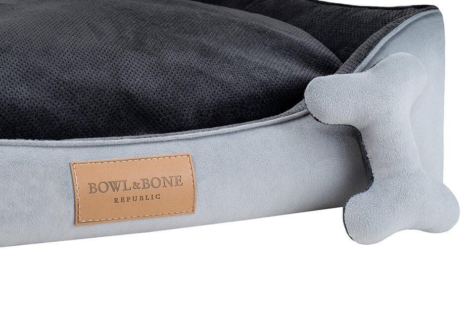 dog bed classic grey bowl and bone republic ps2sa