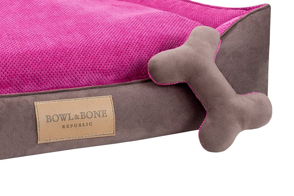 dog bed classic pink bowl and bone republic ps2sa