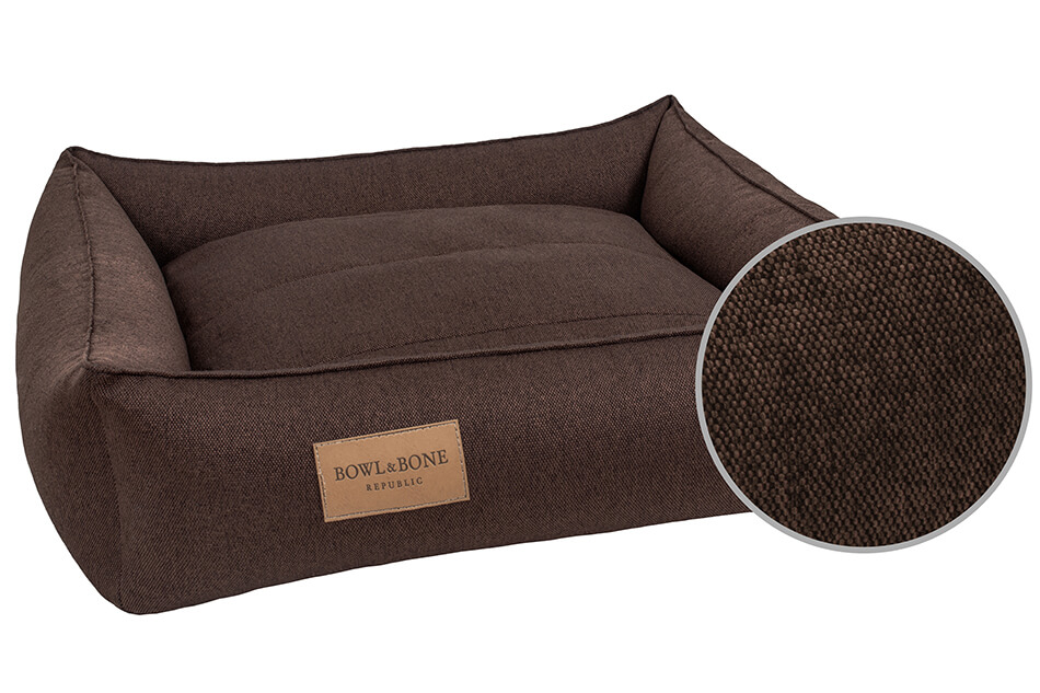 dog bed urban brown bowl and bone republic ps3sa