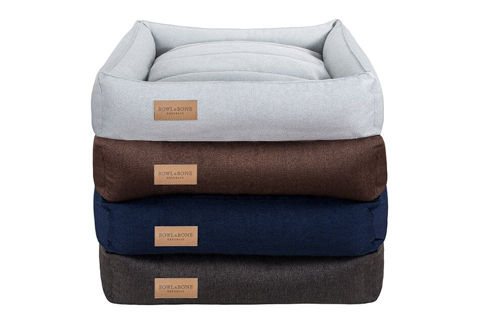 dog bed urban grey graphite navy brown bowl and bone republic ps1sa