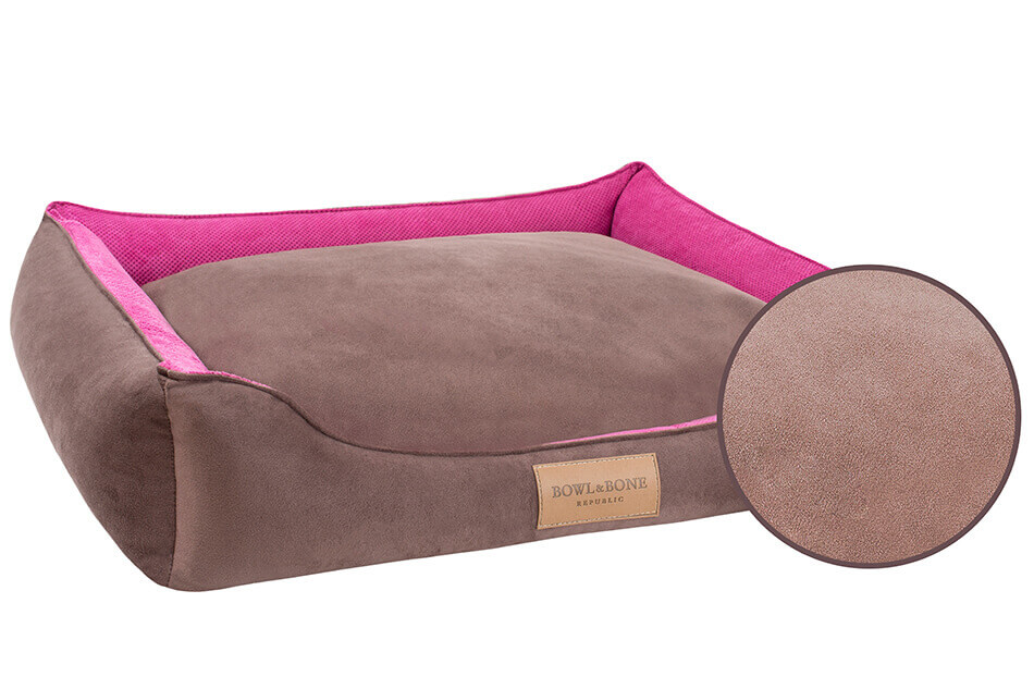 dog bed classic pink bowl and bone republic magnifier