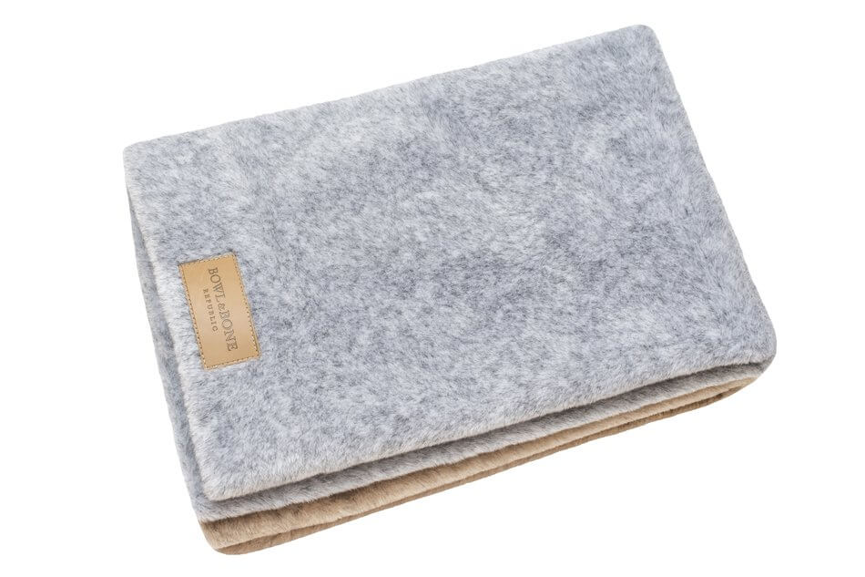 dog blanket nap brown grey bowl and bone republic ps1sa