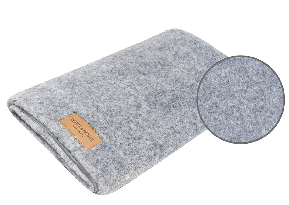 dog blanket nap grey bowl and bone republic magnifier
