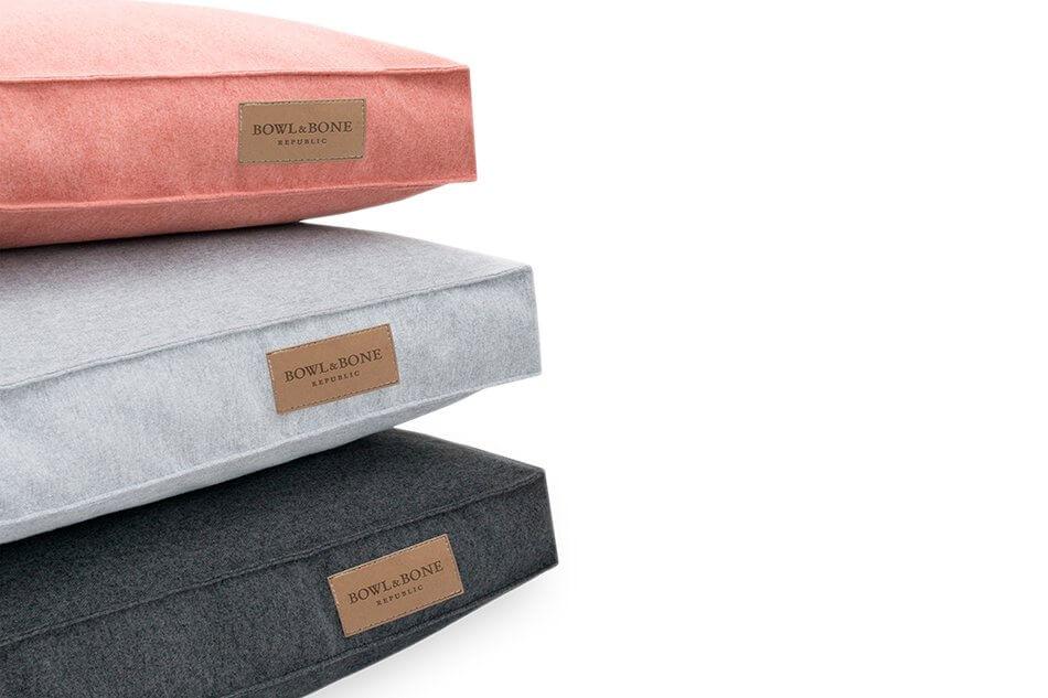 dog cushion bed loft coral graphite grey bowlandbonerepublic psa1sa