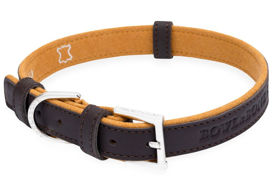 dog collar monaco chocolate bowl and bone republic ps1sa