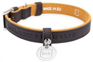 dog collar monaco chocolate bowl and bone republic ps2sa