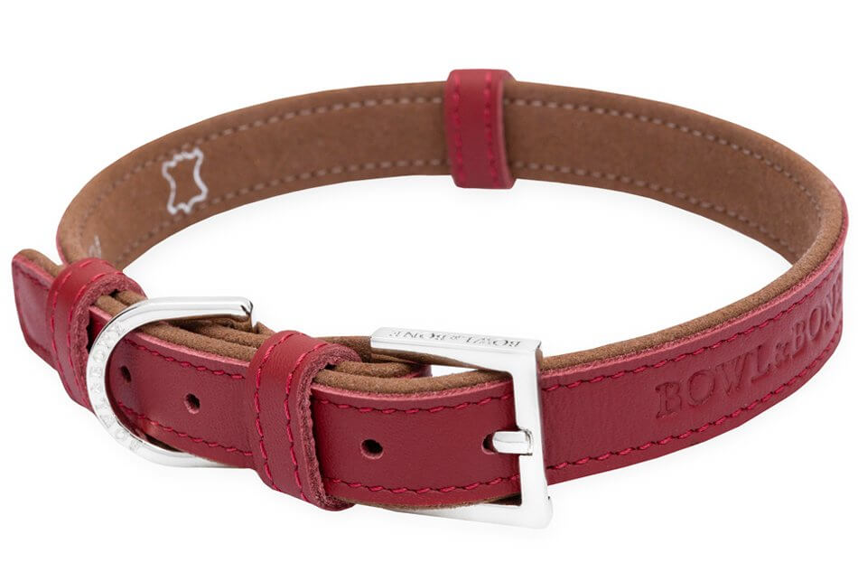 dog collar monaco claret bowl and bone republic ps1sa