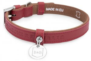Elegant dog collar monaco claret bowl and bone republic ps2sa