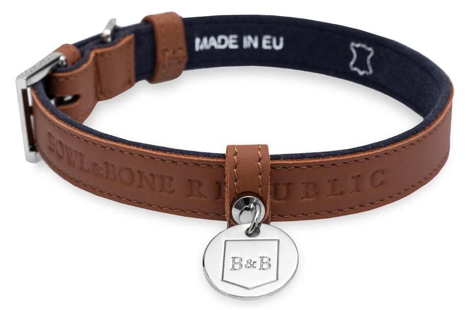 dog collar monaco chocolate bowlandbonerepublic