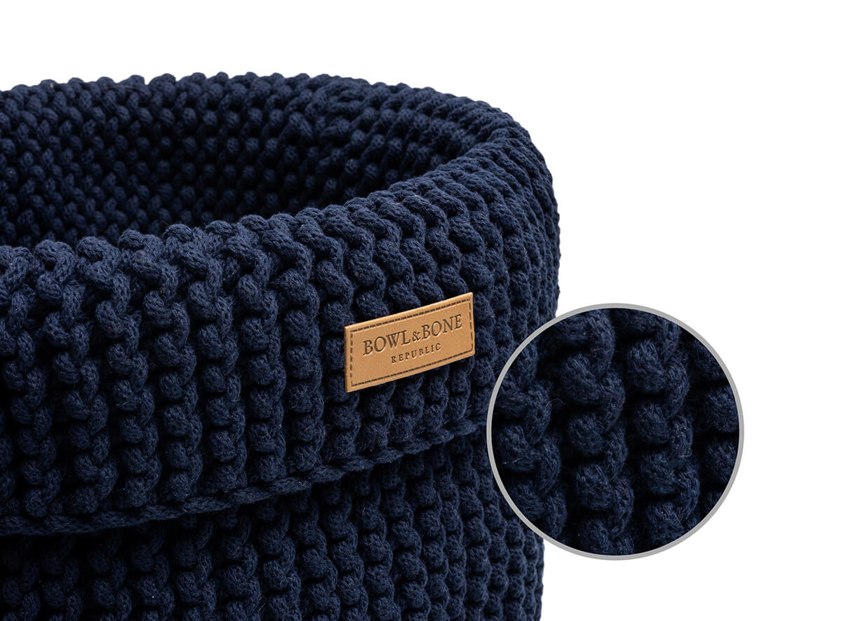 basket for dog toys cotton navy bowl and bone republic magnifier