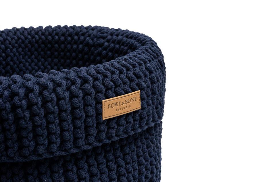 basket for dog toys cotton navy bowlandbonerepublic ps2sa