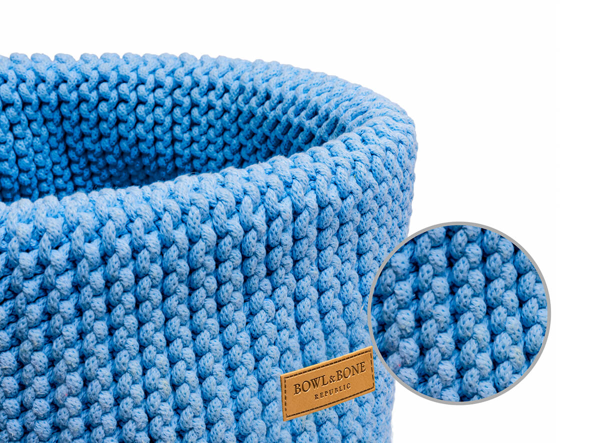 basket for dog toys double blue bowl and bone republic magnifier