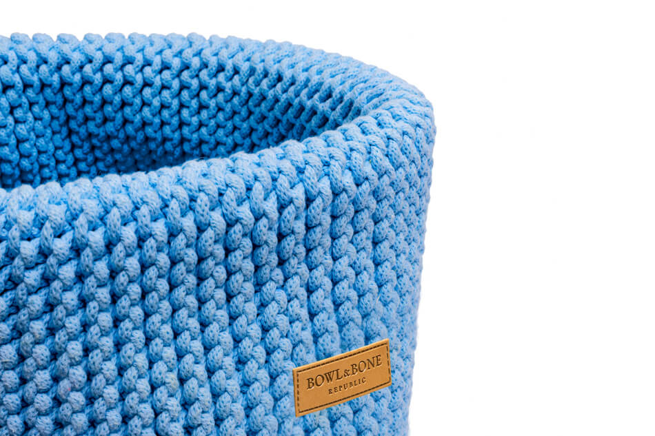 basket for dog toys double blue bowl and bone republic ps2sa