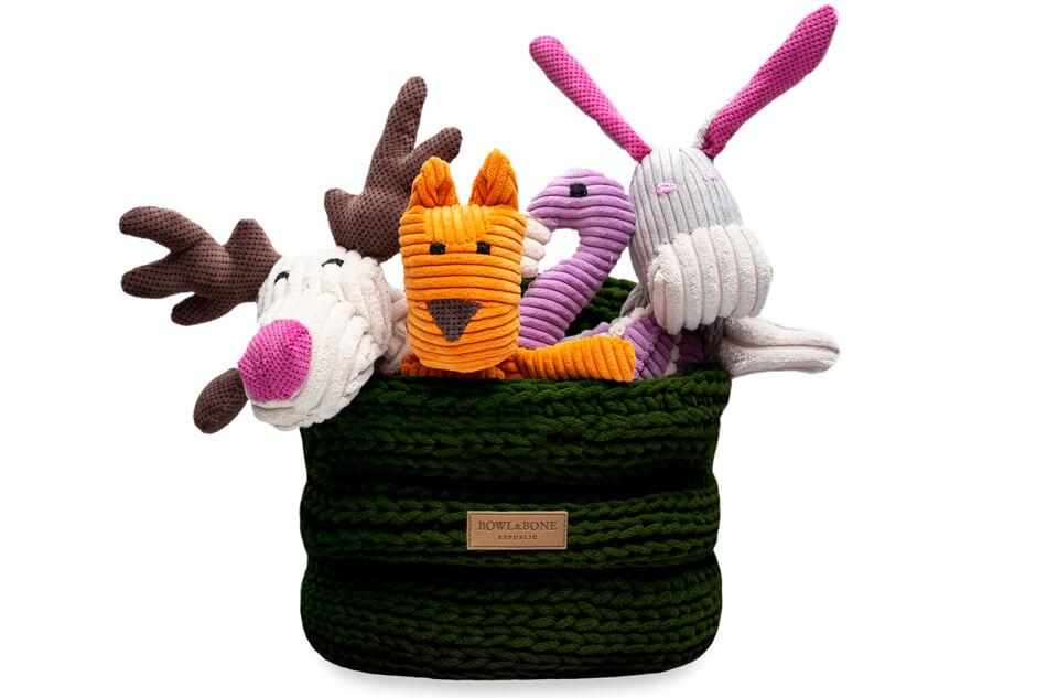 basket for dog toys ring green bowl and bone republic ps1sa