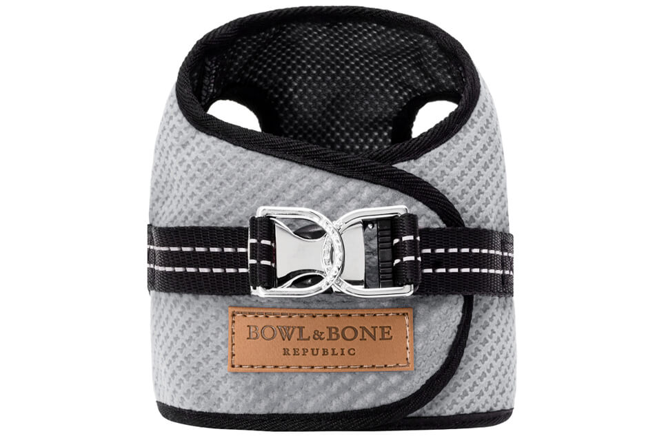 dog harness soho grey 2ed bowl and bone republic ps1sa