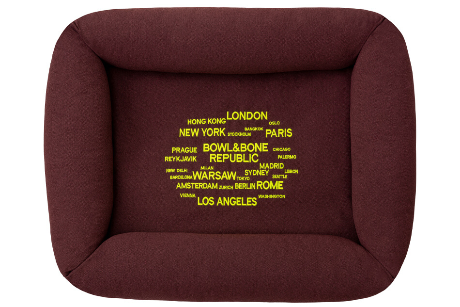 dog bed cosmopolitan bordo bowl and bone republic ps2sa