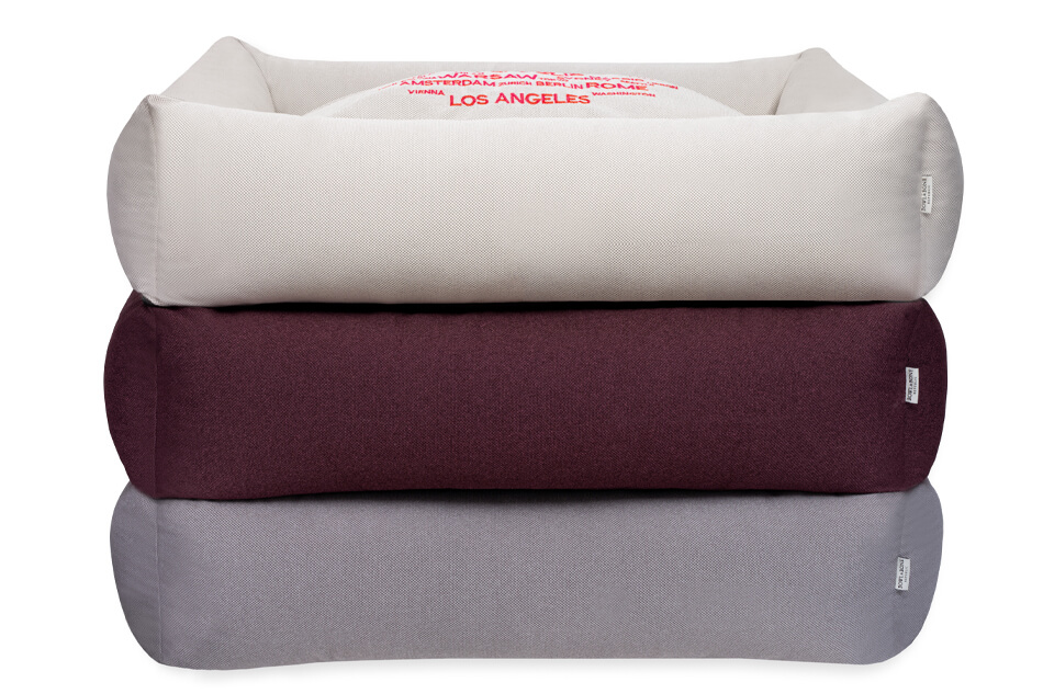 dog bed cosmopolitan cream bordo platinum bowl and bone republic ps1sa